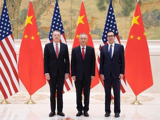 핵심문제 논의 미중 무역협상 대표 전화통화
