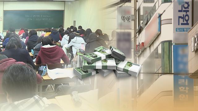 韩国人在私人教育上投入的总金额接近20万亿韩元
