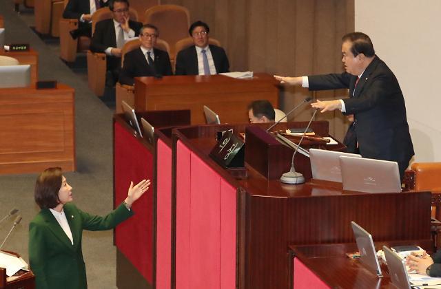 '나경원 발언 논란'에 3월 국회 파행 조짐…또다시 강대강 대치