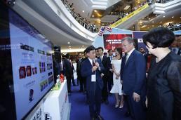 .文在寅在吉隆坡出席韩流与清真展会.