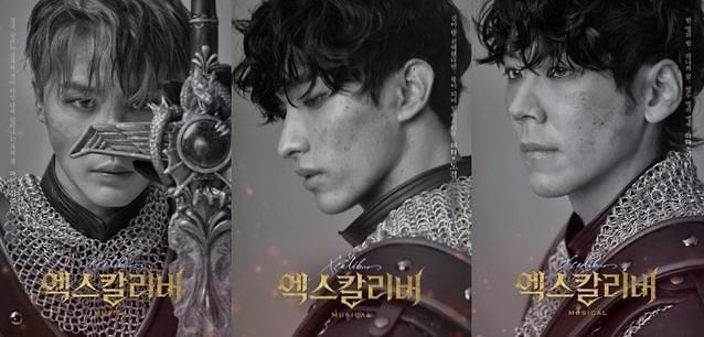 音乐剧《Xcalibur》海报公开 金俊秀KAIDK演绎三种王者风范