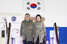 .文在寅结束东盟三国访问返回韩国.