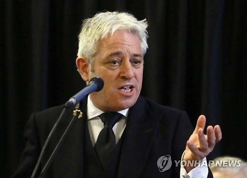 """브렉시트 승인투표 무산되나..英하원의장 """"새 합의안 내놔야 재투표 가능"""""""