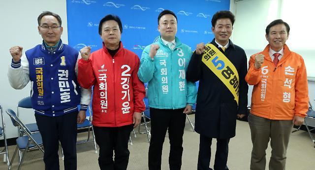 창원성산 4·3 보선 '초박빙'…한국 강기윤 30.5% vs 정의 여영국 29.0%