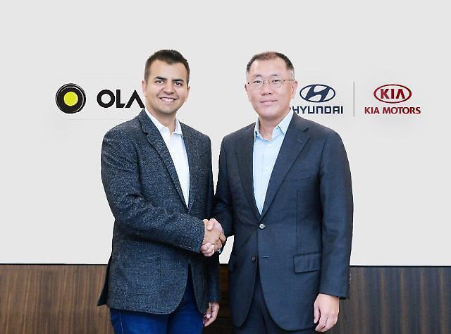 """现代起亚汽车加速进军印度移动出行市场 对""""奥拉(Ola)""""投资3亿美元"""