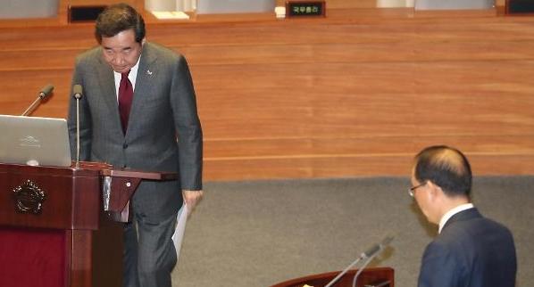 [국회 대정부질문] 한국당, 정부 경제정책 소득주도성장 비판…이낙연 총리에 책임 추궁