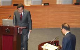 .[国会对政府质询]韩国党批评政府经济政策主导增长收入 追究总理李洛渊责任.