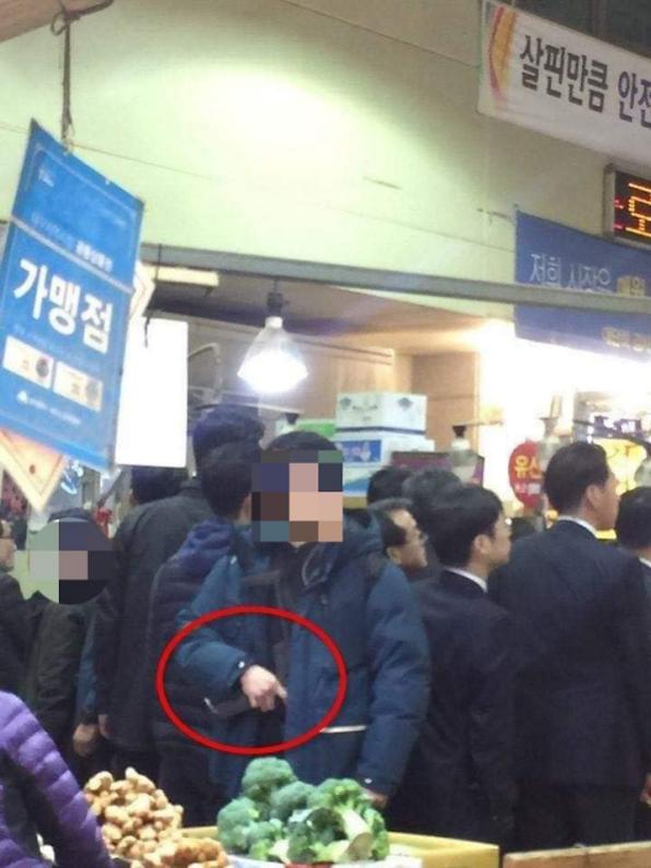 한국당, 기관총신 노출 대통령 경호 아연실색
