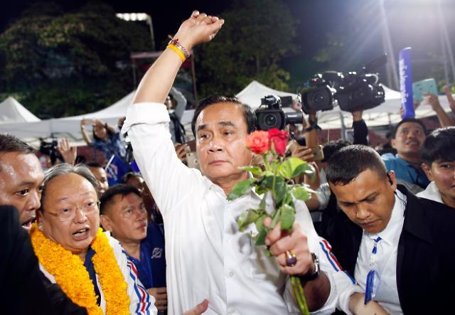 [포토] 태국 총선 이변, 군부지지 정당 현재 1위