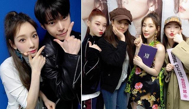 """태연 콘서트 찾은 ★들, 청하부터 NCT 도영까지 """"스타들의 스타"""""""