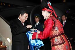 .韩总理抵达蒙古.