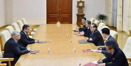 .德国前外长与李洙墉会面 议员团计划5月访问朝鲜 .