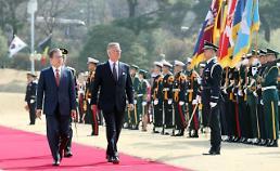 .文在寅举行仪式欢迎比利时国王.