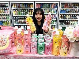 .韩便利店樱花限量版饮料出口中国.