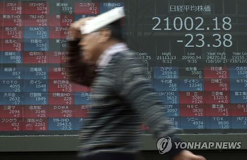 [아시아증시]미·중무역협상 우려에 日 급락세 지속