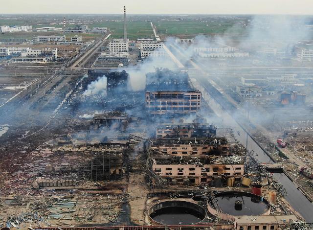 中 화학공장 폭발사고 현장 인근서 1급 발암물질 대량 검출
