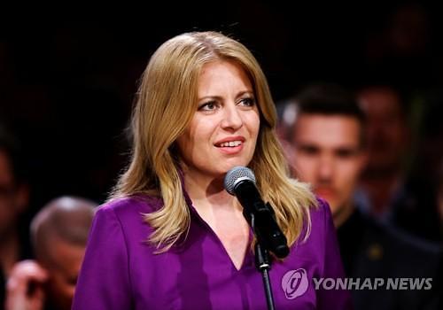 슬로바키아 첫 여성 대통령 탄생...변호사 출신 주사나 카푸토바