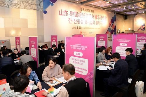 山东大规模采购团访韩进行商务洽谈