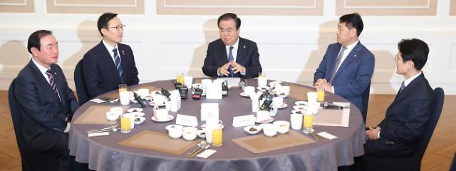 문 의장-여야 5당 원내대표, 오늘 4월 임시국회 일정 논의