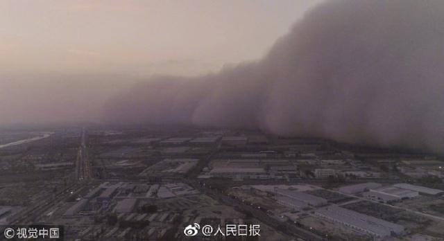 [중국포토]中 모래폭풍 비상...韓 강타하나