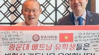 [포토] 광운대 명예초빙교수 된 박항서 감독