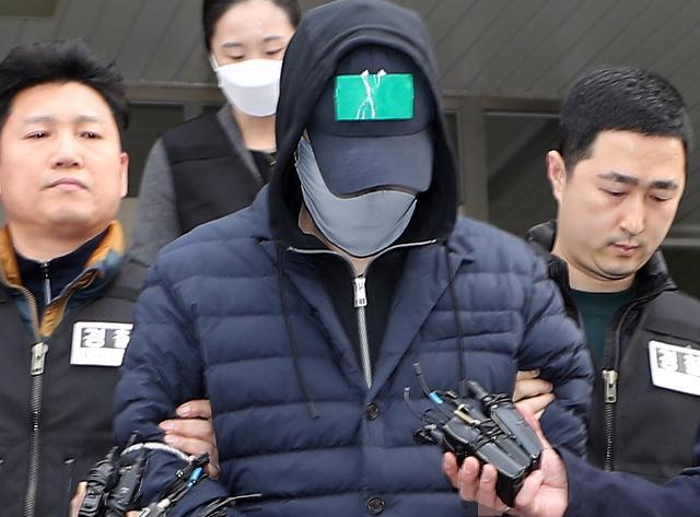 [포토] 마약 투약 혐의 SK그룹 창업주 손자 검찰 송치