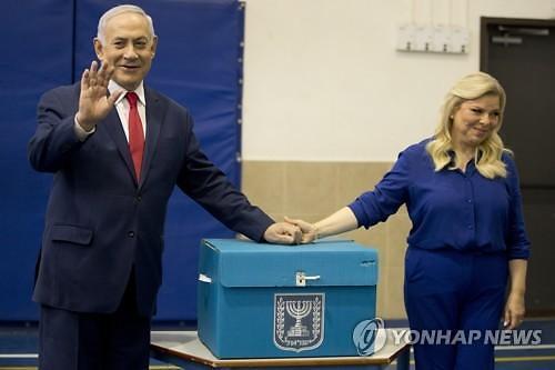 이스라엘 총선서 여야 초접전..네타냐후·간츠 모두 승리 주장