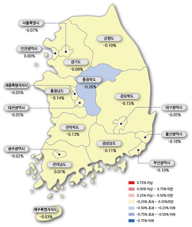 """서울 아파트값 22주 연속 하락…""""매도·매수자간 눈치 보기 치열"""""""