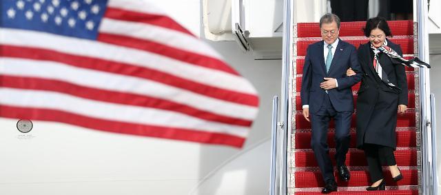 [한미 정상회담] 文대통령, 트럼프 회담 전 펜스·폼페이오·볼턴 접견…중재외교 본격화(종합)