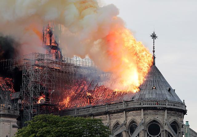 [포토] 불타는 노트르담 성당