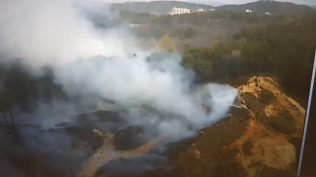 [포토] 대전 유성구 야산에 산불
