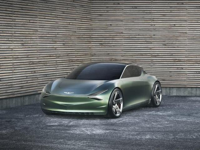 Hyundai Motors Genesis brand unveils electric concept car in New York