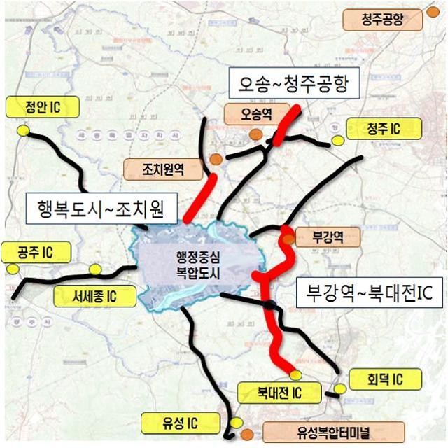 행복도시 접근성 높이는 광역도로망 구축…2조7000억원 투입