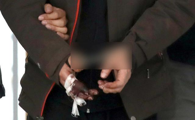 [슬라이드 화보] ※혐오주의※ 진주 아파트 방화살인범의 상처입은 손 포착