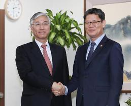 .韩新任统一部长会见中国驻韩大使.