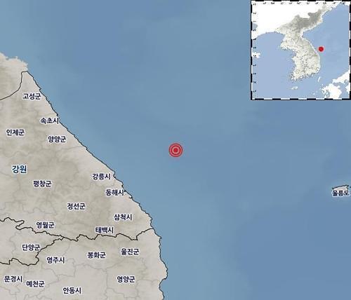 韩国东部江原道近海发生4.3级地震