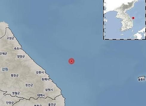 Động đất 4.3 độ Richter ngoài khơi biển phía đông Hàn Quốc