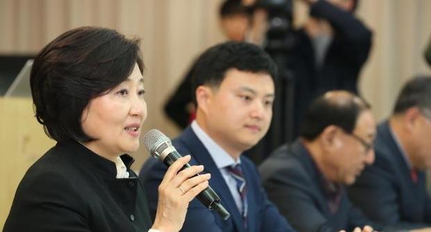 박영선 중기부 장관 소상공인 주름살 펴졌다는 얘기 듣고 싶다