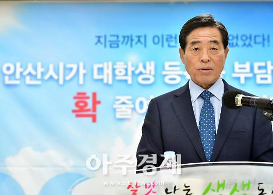"""윤화섭 시장 """"안산사랑상품권 골목경제 활성화 위해 두달 연장한다"""""""