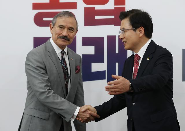 """해리스 주한 미국대사 """"공은 김정은에게…한·미동맹, 안보 핵심"""""""