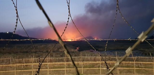 [포토] 연천 비무장지대 산불