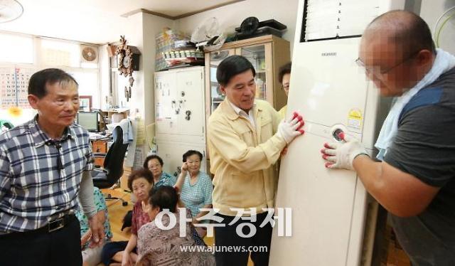 대전동구, 폭염대비 159곳, 무더위쉼터 냉방기 일제정비