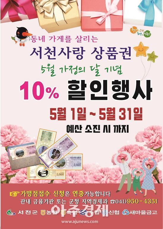 서천군, 서천사랑상품권 1분기 판매액 8억 원 달성