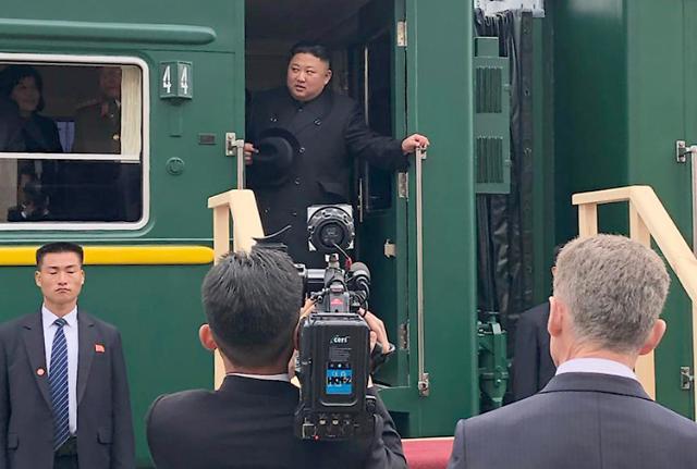 [북러정상회담]회담 마친 김정은, 오후 전용열차로 北 돌아갈 듯