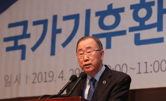 韩治霾首长潘基文:对内减排对华合作