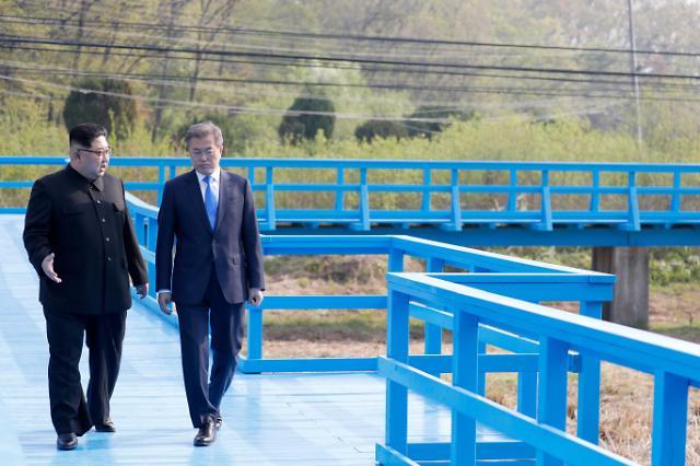 """文在寅与金正恩散步""""徒步桥""""将对外开放"""