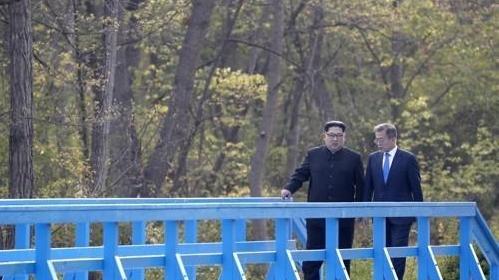 韩朝边境板门店共同警备区韩方一侧对外开放