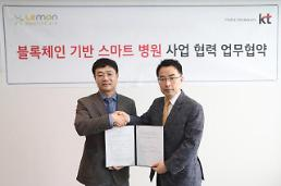 .KT partners with S. Korean healthcare firm to develop blockchain-based smart hospital service.
