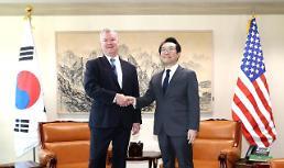 .韩美下周将开工作会议 商讨对朝粮食援助具体方案 .