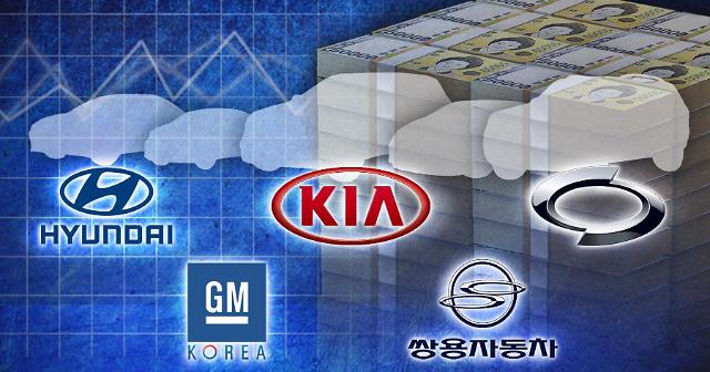韩国五大整车厂商4月出口均下滑